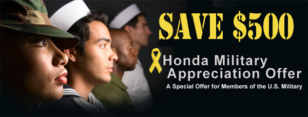 honda military service discount